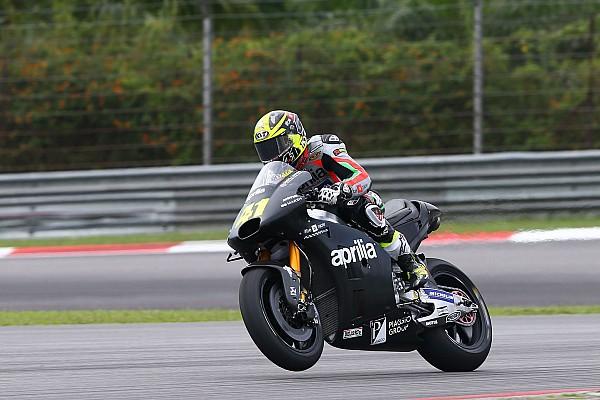 MotoGP Алеш Эспаргаро остался доволен гоночным темпом Aprilia