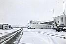 Весна в Венгрии: «Хунгароринг» завалило снегом
