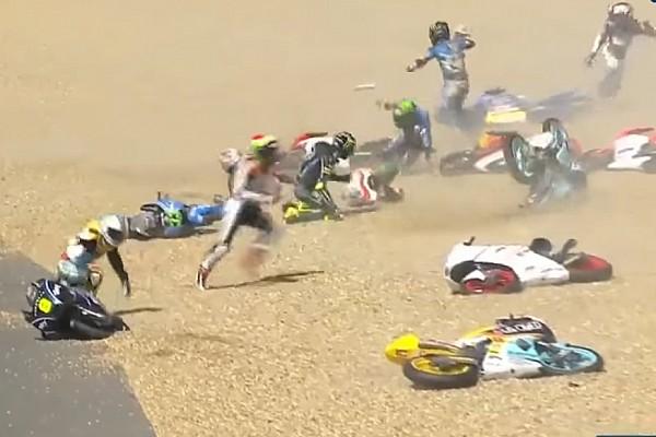 MotoGP Grande strike na Moto3 e queda de Rossi; o domingo na França