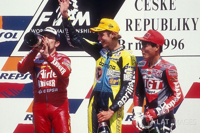Brno ou la 1re victoire de Valentino Rossi, face à Aspar
