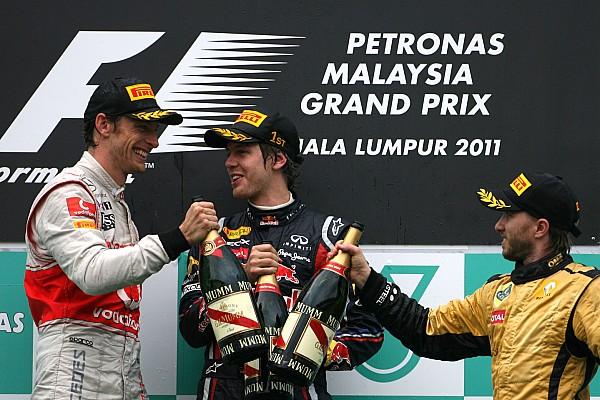 Todos los podios y ganadores del GP de Malasia de F1