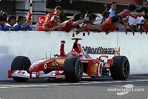 Forma-1 Nosztalgia Michael Schumacher az utolsó futamon sem könyörült meg a mezőnyön 2002-ben