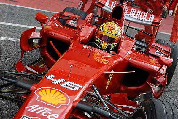 Formel 1 News Valentino Rossis Formel-1-Tests: Michael Schumacher konnte es nicht fassen