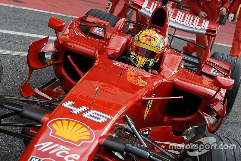 Valentino Rossis Formel-1-Tests: Michael Schumacher konnte es nicht fassen