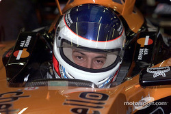 Gaston Mazzacane testi for Arrows