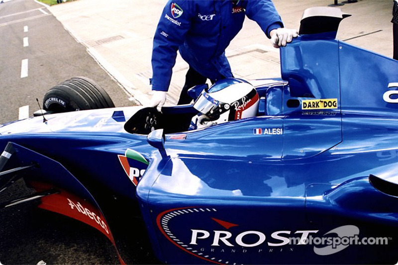 Jean Alesi in the pits