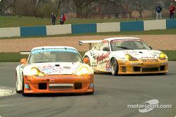 Kyser and Alex Job Racing's 911s