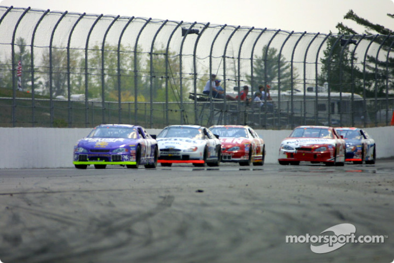 Action on the back stretch