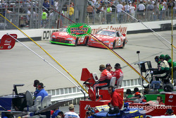 A tough battle between Dale Earnhardt Jr. and Casey Atwood
