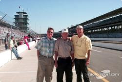 Ken Hamilton (Davey's Dad), Bill Vukovich, and Gary Bettenhausen enjoy the tradition of the Speedway