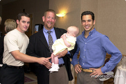 Casey Mears, Mark et Madison Wingler, Helio Castroneves