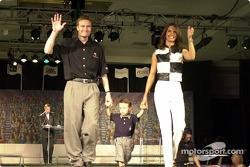 Buddy Lazier et sa femme Kara et leur fils Flinn
