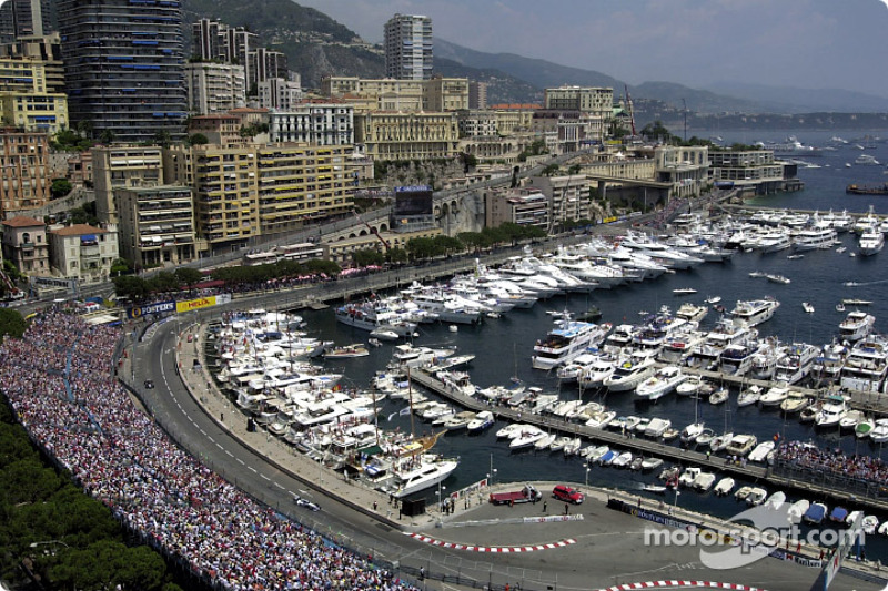 The port of Monaco and the track