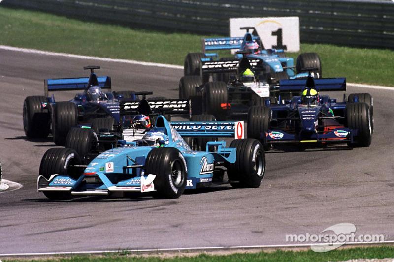 Giancarlo Fisichella au départ du GP d'Autriche