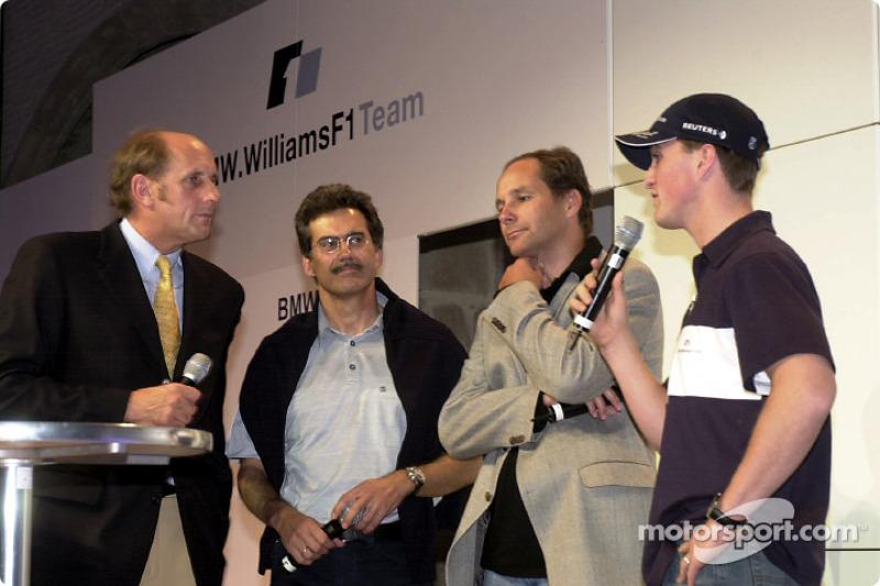 BMW WilliamsF1 Team Fashion Show: Hans Stuck, Dr. Mario Theissen, Gerhard Berger and Ralf Schumacher