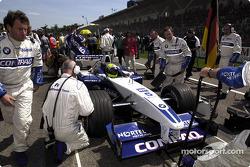 Pit stop for Ralf Schumacher
