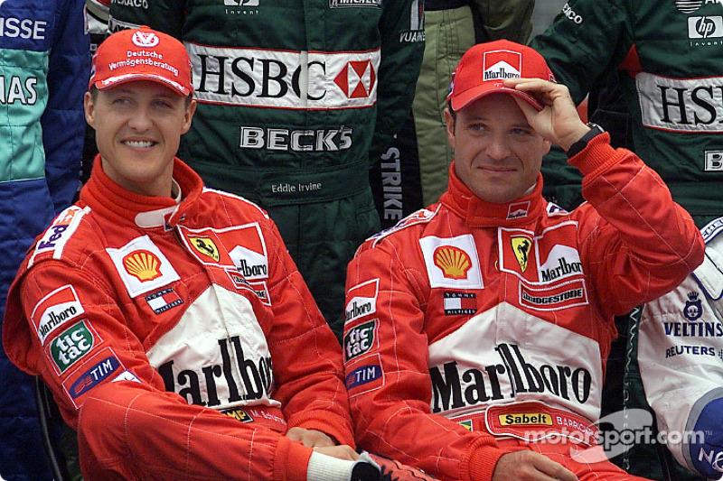 Presentación de pilotos: Michael Schumacher y Rubes Barrichello