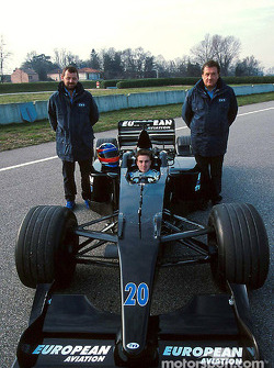 Paul Stoddart, Fernando Alonso and Gian Carlo Minardi