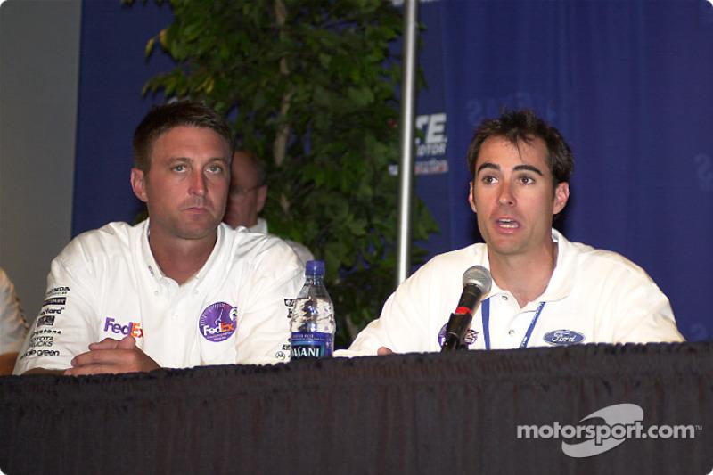 Chris Kniefel, chief Stewart, and Bryan Herta