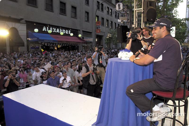 Saturday, BMW M night in the streets of Montreal: Juan Pablo Montoya