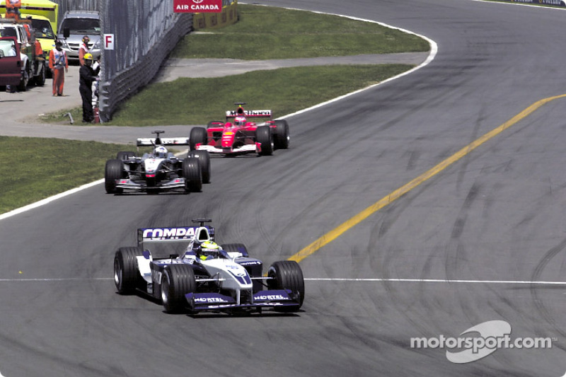 Ralf Schumacher, David Coulthard and Rubens Barrichello