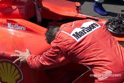Michael Schumacher, after the race