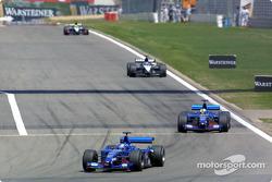 Jean Alesi, Luciano Burti, Fernando Alonso en Tarso Marques
