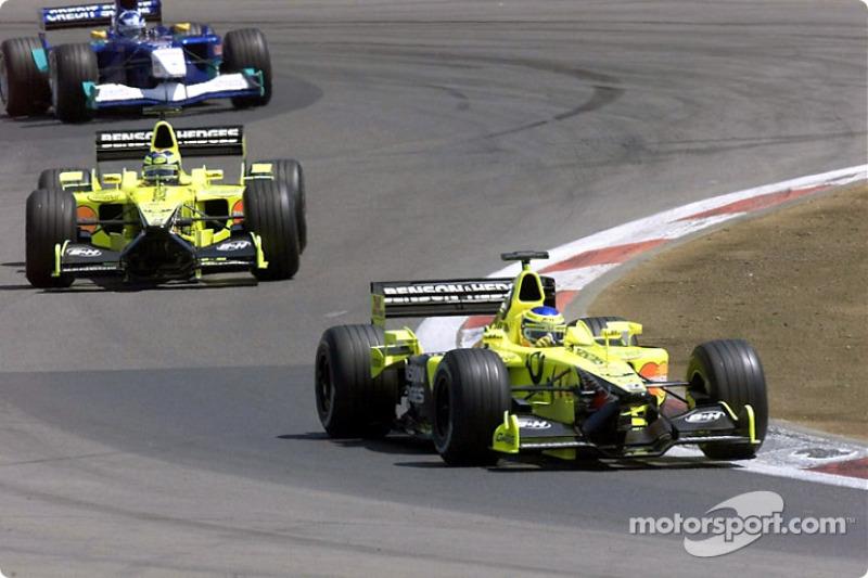 Jarno Trulli, Heinz-Harald Frentzen and Kimi Raikkonen