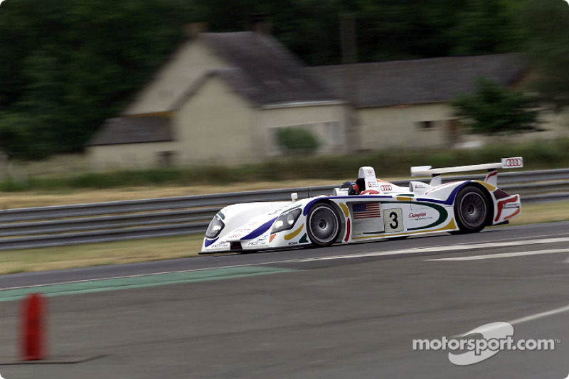 Didier Theys in the Audi R8 of team Champion Racing (#3) in second qualifying