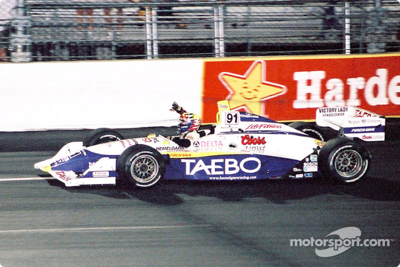 Race winner Buddy Lazier
