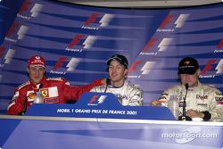 Press conference: Michael Schumacher, Ralf Schumacher and David Coulthard