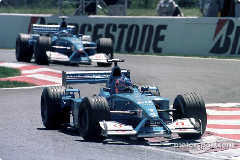 Jenson Button and Giancarlo Fisichella