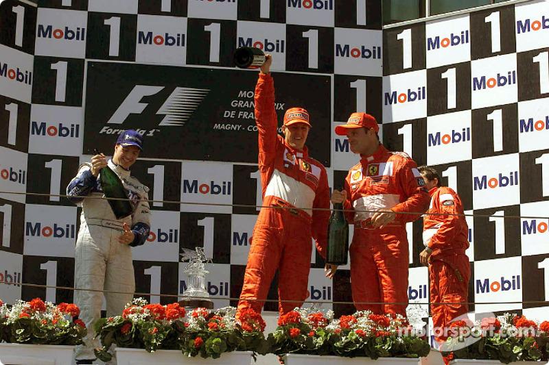 2001: 1. Михаэль Шумахер, 2 Ральф Шумахер, 3. Рубенс Баррикелло