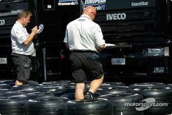 Tire preparation, Minardi