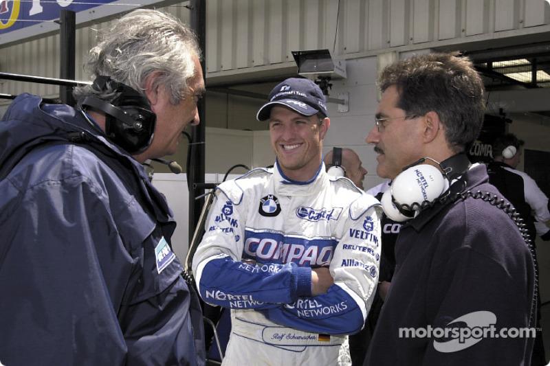 Flavio Briatore, Ralf Schumacher and Dr. Mario Theissen