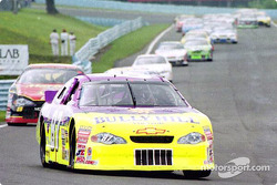 Ron Fellows leads the pack into turn 10