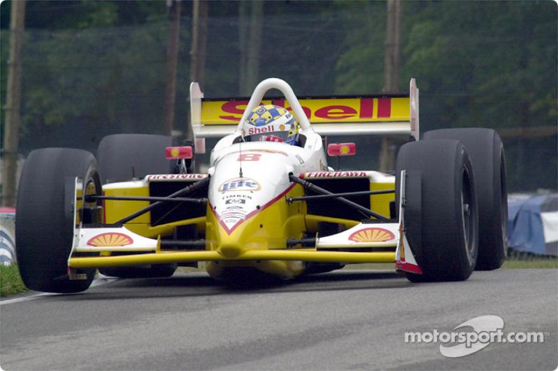 Kenny Brack gets a wheel up