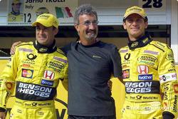Jean Alesi, Eddie Jordan et Jarno Trulli