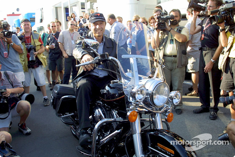 Jo Ramirez and his birthday gift: a Harley-Davidson