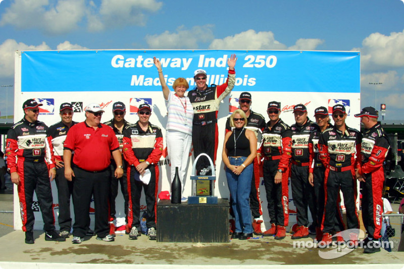 Al Unser Jr. celebrating with Team Galles Racing