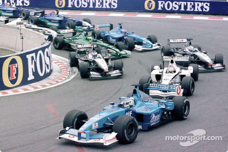 Giancarlo Fisichella au départ du GP de Belgique