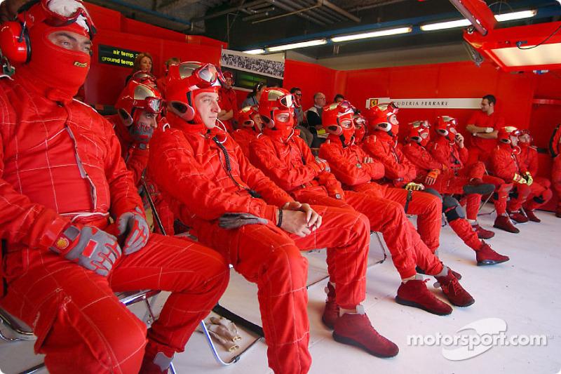 Ferrari crew