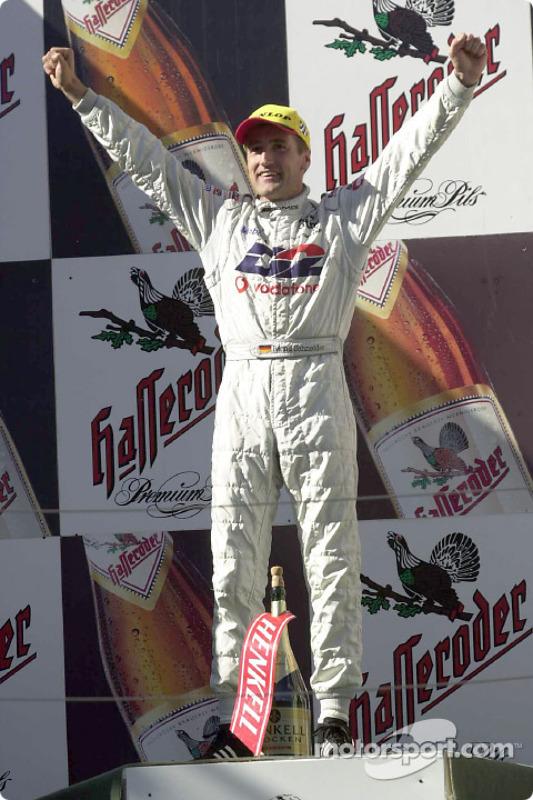 Bernd Schneider on the podium