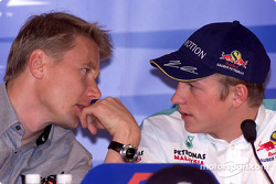 Conférence de presse du jeudi: Mika Hakkinen et Kimi Raikkonen