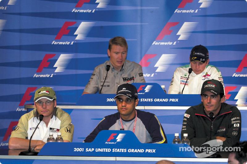 Thursday press conference: Jacques Villeneuve, Juan Pablo Montoya, Pedro de la Rosa, Mika Hakkinen a