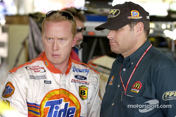 Ricky Craven and car owner Cal Wells