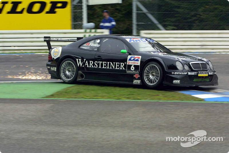 DTM, Hockenheim 2001: Marcel Fässler, HWA, Mercedes CLK