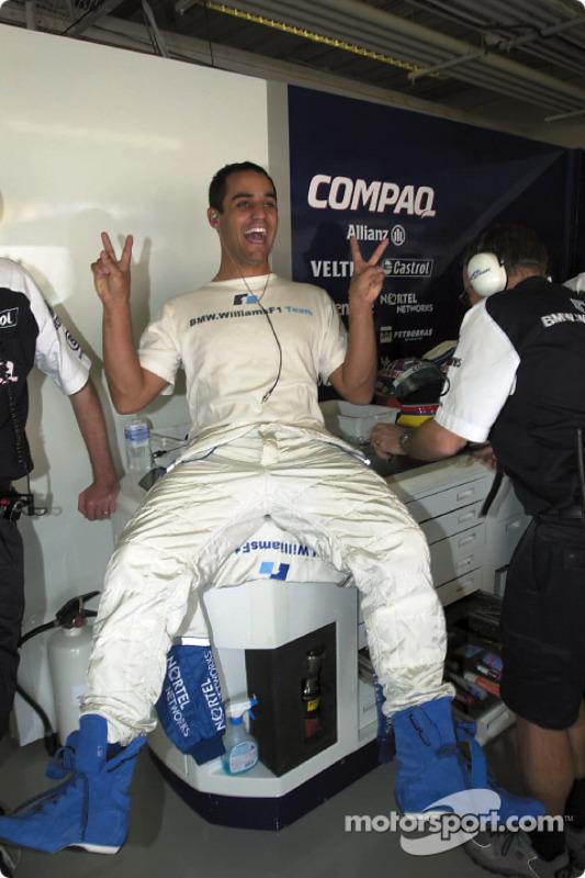 A happy Juan Pablo Montoya