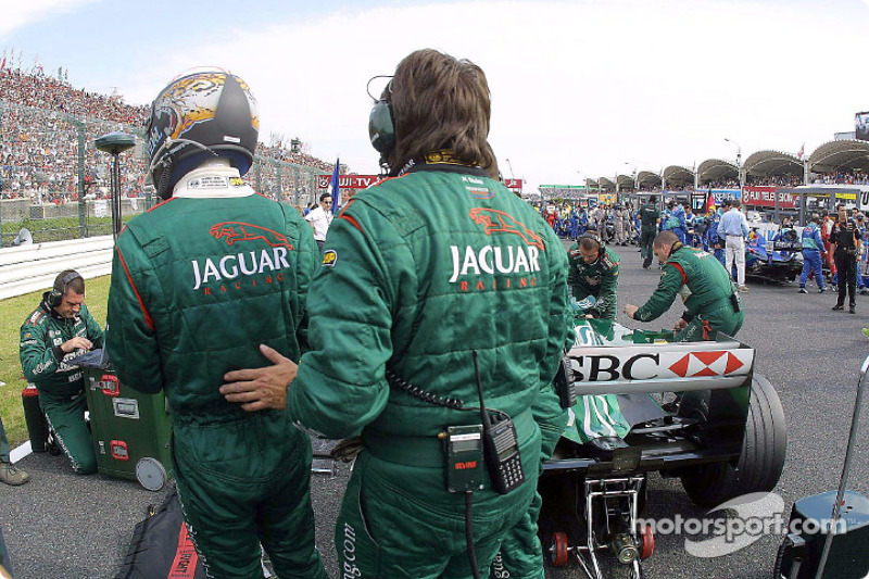 On the grid: Eddie Irvine