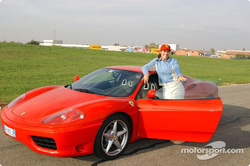Jennifer Capriati, track, Fiorano: Jennifer ve Ferrari 360 Modena